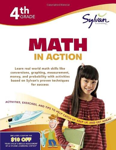 9780375430442: Fourth Grade Math in Action (Sylvan Workbooks) (Sylvan Math Workbooks)