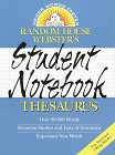 Random House Webster's Student Notebook Thesaurus (0375702466) by Random House