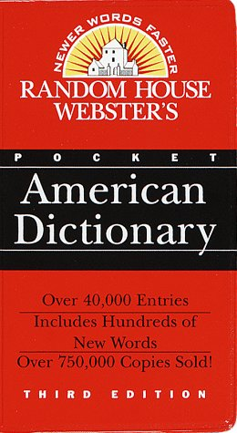 9780375703539: Random House Webster's Pocket American Dictionary: Third Edition