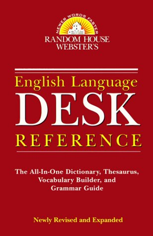 Webster's English Language Desk Reference (9780375704642) by Random House