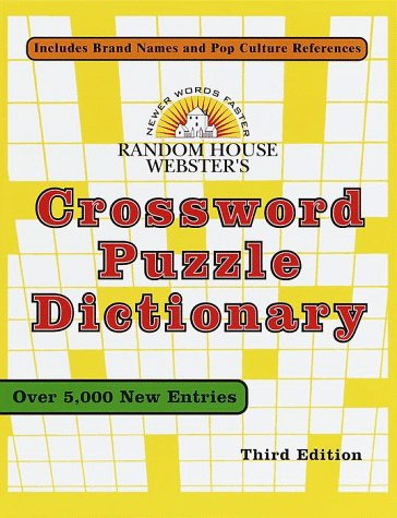 9780375706240: Random House Webster's Crossword Puzzle Dictionary: Third Edition