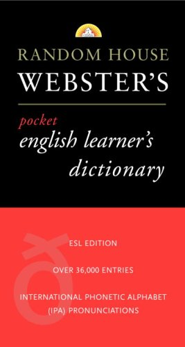 Random House Webster's Pocket English Learner's Dictionary: RH Disney Staff