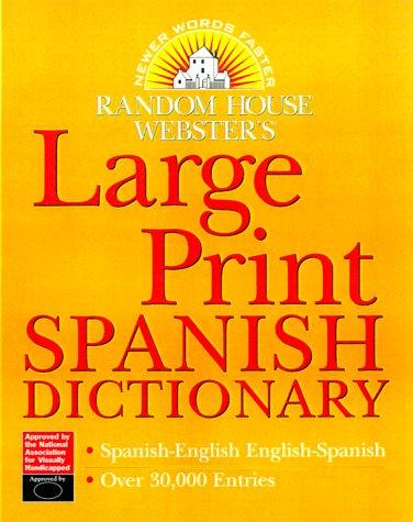 9780375709265: Diccionario Random House Webster's de Español Impresión Grande (para visión subnormal)