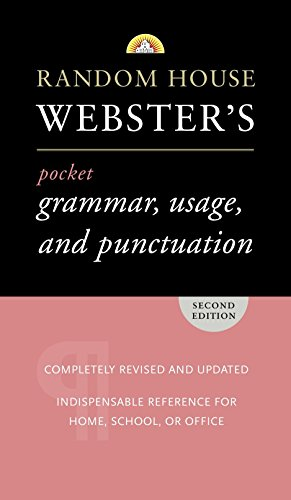 9780375719677: Random House Webster's Pocket Grammar, Usage, and Punctuation: Second Edition (Pocket Reference Guides)