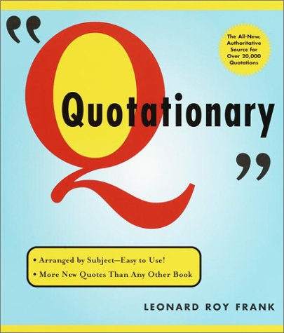 9780375719684: Random House Webster's Quotationary