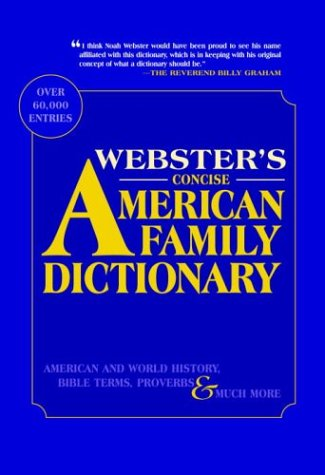 9780375720031: Webster's Concise American Family Dictionary