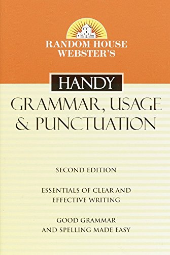 9780375720055: Random House Webster's Handy Grammar, Usage, and Punctuation, Second Edition (Handy Reference)