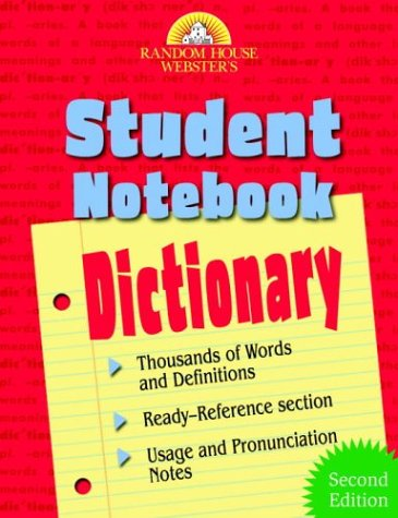 9780375720284: Random House Webster's Student Notebook Dictionary: Second Edition