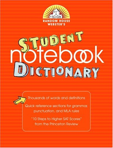 9780375721205: Random House Webster's Student Notebook Dictionary, Second Edition