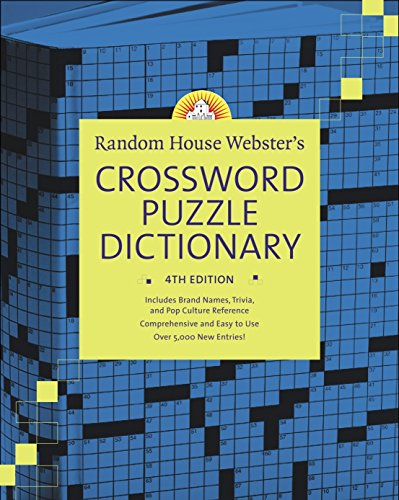 9780375721311: Random House Webster's Crossword Puzzle Dictionary, 4th Edition