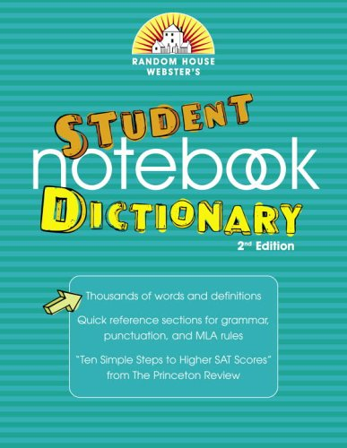 9780375721908: Random House Webster's Student Notebook Dictionary, Second Edition