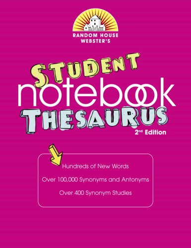Random House Webster's Student Notebook Thesaurus, Second Edition (9780375721915) by Random House