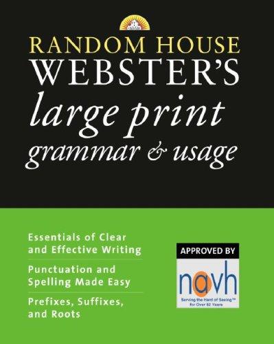 9780375722318: Random House Webster's Large Print Grammar & Usage (Random House Reference)