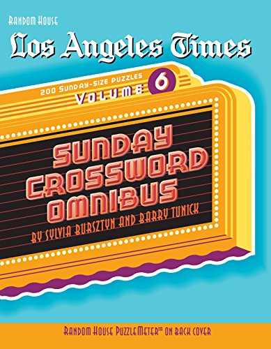 9780375722486: Los Angeles Times Sunday Crossword Omnibus, Volume 6 (The Los Angeles Times)