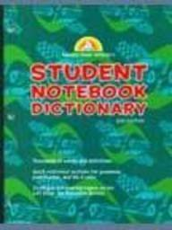 Random House Webster's Student Notebook Dictionary, Third Edition - Boy (9780375722516) by Random House