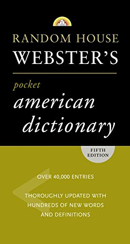 9780375722714: Random House Webster's Pocket American Dictionary, Fifth Edition