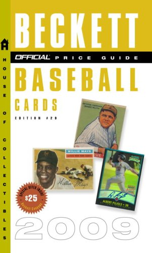 9780375723131: The Official Beckett Price Guide to Baseball Cards 2009, Edition #29 (Official Price Guide to Baseball Cards)