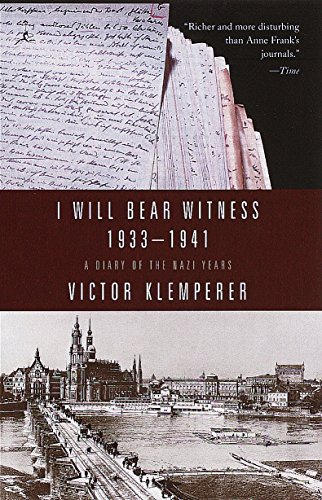 9780375753787: I Will Bear Witness 1933-1941: A Diary of the Nazi Years (Living Language Series)