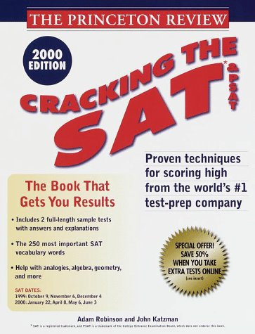 9780375754036: Princeton Reviw: Cracking the SAT & PSAT, 2000 Edition