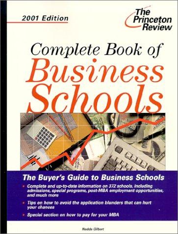 9780375761546: Complete Book of Business Schools 2001