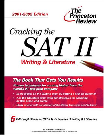 9780375761836: Cracking the SAT II: Writing & Literature, 2001-2002 Edition