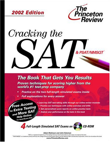9780375761928: Cracking the SAT with CD-ROM, 2002 Edition (Princeton Review)