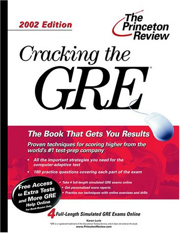 9780375761966: Cracking the GRE, 2002 Edition (Princeton Review: Cracking the GRE.)