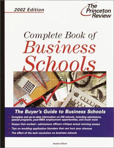 9780375762147: Complete Book of Business Schools 2002