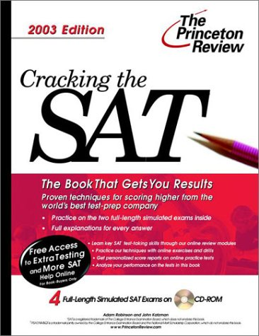 9780375762468: Cracking the SAT with Sample Tests on CD-ROM, 2003 Edition (College Test Prep)