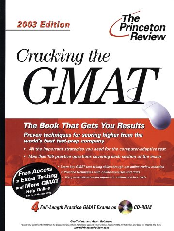 9780375762505: Cracking the GMAT with Sample Tests on CD-ROM, 2003 Edition (Graduate Test Prep)