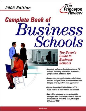 9780375762703: Complete Book of Business Schools 2003