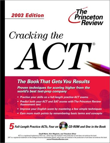 9780375763182: Cracking the ACT with Sample Tests on CD-ROM, 2003 Edition (College Test Prep)