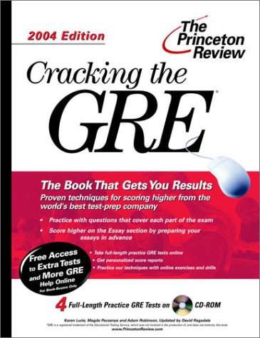 9780375763229: Cracking the GRE with Sample Tests on CD-ROM, 2004 Edition (Graduate Test Prep)