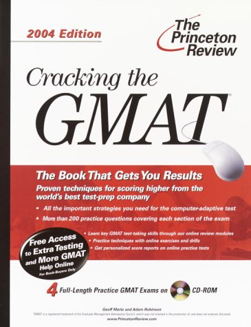9780375763243: Cracking the GMAT with Sample Tests on CD-ROM, 2004 Edition (Graduate Test Prep)