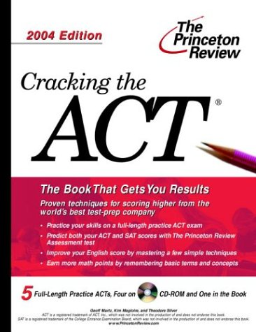 9780375763946: Cracking the ACT with Sample Tests on CD-ROM, 2004 Edition (College Test Prep)