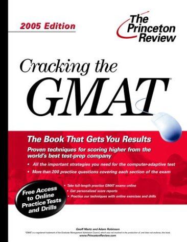 9780375764073: Cracking the GMAT, 2005 Edition (Graduate Test Prep)