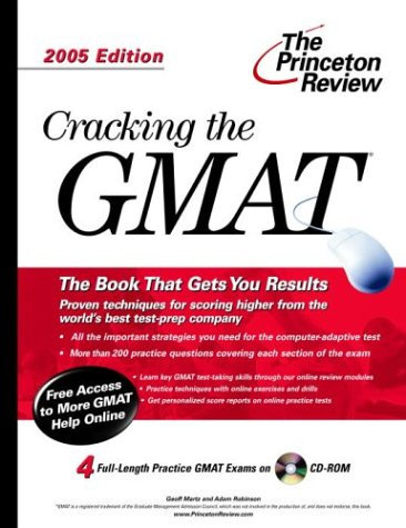 9780375764080: Cracking the GMAT with Sample Tests on CD-ROM, 2005 Edition (Graduate Test Prep)