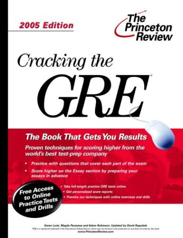 9780375764097: Cracking the GRE, 2005 Edition (Graduate Test Prep)