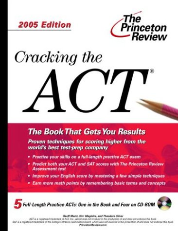 9780375764554: Cracking the ACT with Sample Tests on CD-ROM, 2005 Edition (College Test Prep)