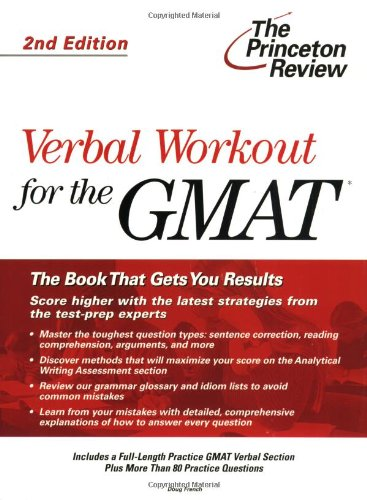 9780375764622: Verbal Workout for the GMAT, 2nd Edition (Graduate School Test Preparation)