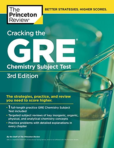 9780375764899: Cracking the GRE Chemistry Subject Test, 3rd Edition (Graduate School Test Preparation)
