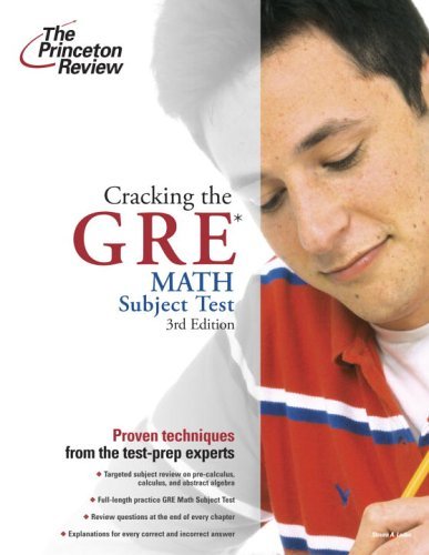 9780375764912: Cracking the GRE Math Test, 3rd Edition
