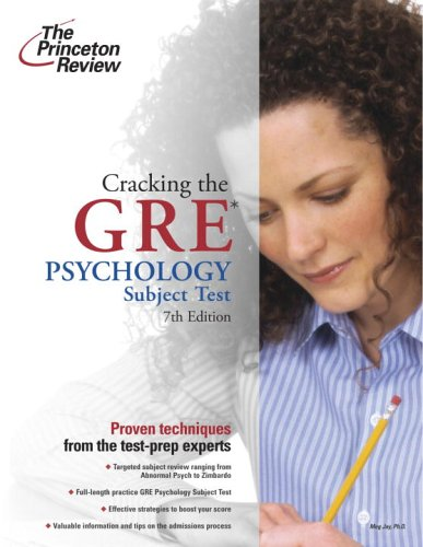 9780375764929: Cracking the GRE Psychology Subject Test, 7th Edition
