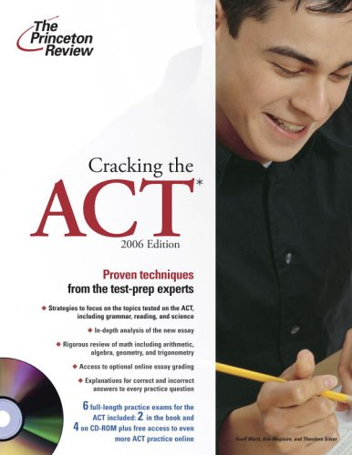 9780375765247: Cracking the ACT with Sample Tests on CD-ROM, 2006 Edition (College Test Prep)