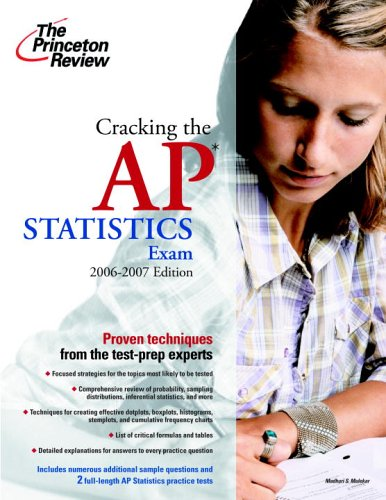 9780375765315: Cracking the AP Statistics Exam, 2006-2007 Edition (College Test Preparation)