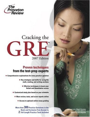 9780375765506: Cracking the GRE, 2007 Edition (Graduate School Test Preparation)