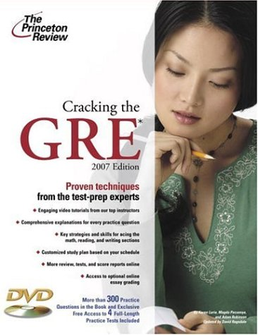 9780375765513: Cracking the GRE, 2007