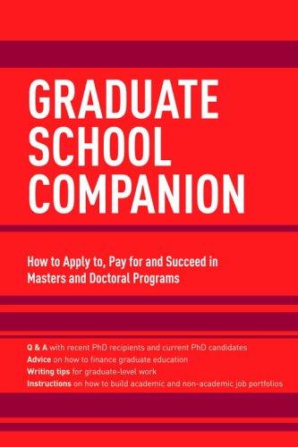 Graduate School Companion (Graduate School Admissions Gui): Princeton Review