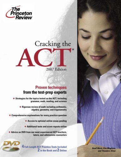 9780375765865: Cracking the ACT with DVD, 2007 Edition (College Test Preparation)