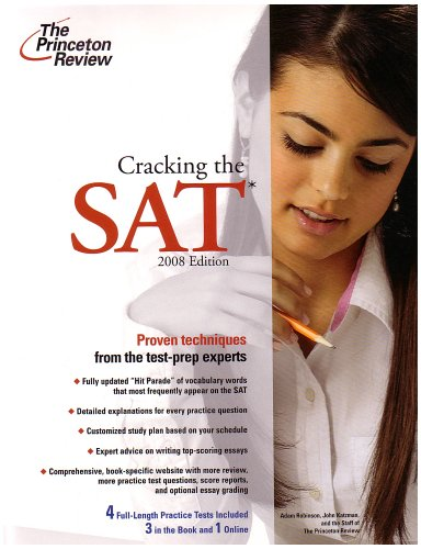 9780375766060: Cracking the SAT, 2008 Edition (College Test Preparation)